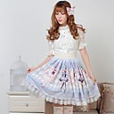 Azul Pretty Lolita Rose Princesa de los géminis Kawaii Falda encantadora