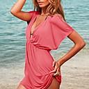 Beach seda elástico de la Mujer Maoyu falda Tanques Bikini