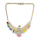 Canlyn Womens Fashion Colorful Bird With Diamond Necklace