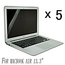 [5-Pack] alta calidad Invisible Shield Smudge Protector de pantalla Prueba para el MacBook Air de 13,3 pulgadas