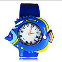 Childrens Fish Round Dial Silicone Band Quartz Analog Fashion Watch (Random Style)