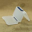 200  126  36 MM Dos Lados White Box Pesca transparente caja de trastos