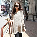 grey-long-sleeve-lace-korean-maternity-tops-loose-long-pregnant-women-clothing