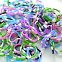 Rainbow Loom Style DIY Twistz Silicone Bandz Rubber Bands Bracelets with 600pcs Bands and 24 S-clips