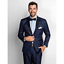 Dark Blue Polester Standard Fit Two-Piece Tuxedo