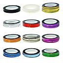 1PCS trazado de líneas de cinta de la raya de las uñas de cinta engomada de la decoración del arte (color surtidos)