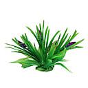 Green Plastic Plants Decoration Ornament for Aquarium (Random Flower Color)