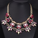Womens Retro Colored Gemstone Necklace