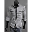 Glory Shirt Collar Long Sleeve Double Pocket Casual Shirt