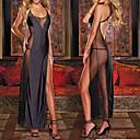 Atraer señora Chiffon Ver a través de Bodycon vestido de las mujeres del partido de tarde Uniforme Sexy