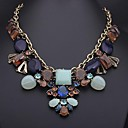 Womens  Retro  Water Droplets Gem Studded Necklace