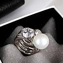 anillo de diamantes de ShanZuan señorita dúo perla