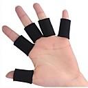 0605 Multisport Fundas para dedos para Gym Fitness / Baloncesto / Voleibol - Negro (10-Piece-Pack)