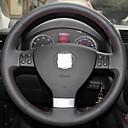 Cubierta del volante del cuero genuino Xuji ™ para Volkswagen Golf 5 Mk5 Sagitar Magotan VW Passat B6