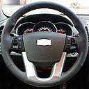 Cubierta del volante del cuero genuino Xuji ™ Negro para Kia Sorento 2009-2012