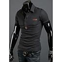 camisa de cuero nono bordado estándar polo (gris oscuro)