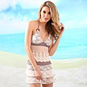 Womens Halter Multi-pieces , Solid/Mesh Push-up Lace/Nylon/Polyester