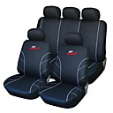 9 piezas Set Car Seat Covers Negro y Blanco Delantero Trasero Racing Style Proctor Set-L Fit universal