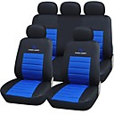 9 piezas Set Car Seat Covers de calor en relieve Tela Fish Net Costura material Universal Fit