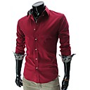 Glory Shirt Collar Long Sleeve Inside Embroidery Pattern Shirt