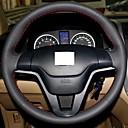 Cubierta del volante del cuero genuino Xuji ™ Negro para Honda CRV CR-V 2007-2011