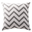 Ash Grey Chevron Cotton Canvas Decorative Pillow