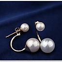 pendientes de arco de perlas de imitación elegante estrella de las mujeres afortunadas