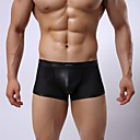 Mens Sexy Faux Leather Spell Network G-Strings Mens Underwear