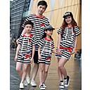 Family's Angre Birds Print Stripe Suit(With cap) Parentage Clothes