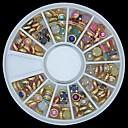 100 piezas de colores de la perla de uñas rueda lipping de metal la decoración del arte