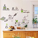 Doudouwo Still Life The Green Tableware Wall Stickers