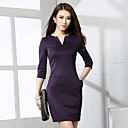 Womens 7 Minutes Of Sleeve Show Thin Waist Dress