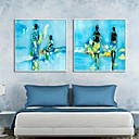 Arte abstracto Gente Framed Canvas Set de 2