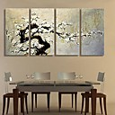 Image of Su tela Art The Plum Blossom Set Decoration di 4