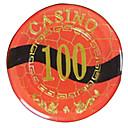 100 de bloqueo de lujo del oro redondeado mahjong suite de chip con juguetes signo anti-falsificación