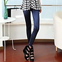 Womens Fashion Luxurious Pure Color Silk and Satins Legging Pants