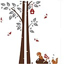 Doudouwo Cartoon Squirrels Under The Tree Wall Stickers