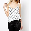 Womens Barbed Wire Print And White Strap Vest
