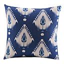 Modern Blue Geometric Cotton/Linen Decorative Pillow Cover