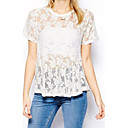 Womens Pure Lace Loose T-shirt