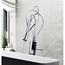 Post Modern Chrome Finish One Hole Single Handle Kitchen Faucet