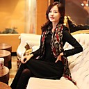 Womens Leopard grain cotton material hand-painted silk scarves.women use