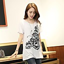 WomenS Butterfly Print Loose T Shirt