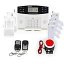 106 Zona de Seguridad para el Hogar GSM Sistema de alarma antirrobo Set con guía de voz de dos vías de intercomunicación