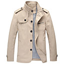 Mens Stand Collar Basic  Long Sleeve  Jacket 1809