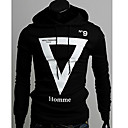 Hansun Men's Hoodie Geometric Long Sleeve Fleece