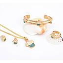 conjunto de diamantes de imitación de aleación westernrain chapados en oro de los niños