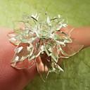 Leaf Multi Poinsettia Beads Flower In Multi Color Napkin Ring, Acrylic Beades, 3.5CM, Set of 12,