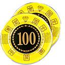 100 de bloqueo de oro redondeado mahjong suite de chip con juguetes caseros signo anti-falsificación
