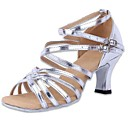 Womens Leatherette Upper Latin Dance Shoes Sandals With Buckie (More Colors)